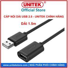 [UNITEK STORE.COM] CÁP USB NỐI DÀI USB 2.0 – DÀI 1.5M UNITEK 449GBK