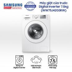 Máy giặt cửa trước hơi nước Samsung Inverter WW75J42G3KW/SV 7.5kg (Trắng) – Hãng phân phối chính thức, tiết kiệm điện
