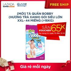[MỚI] Tã quần Bobby (hương trà xanh) gói siêu lớn XXL- 44 miếng (>16kg)