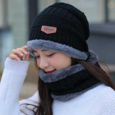 [TẶNG KÈM KHĂN]Set khăn mũ len cao cấp cho cả nam và nữ – Mũ nón kèm khăn len lót lông siêu ấm thời trang phong cách (shop giao màu ngẫu nhiên)
