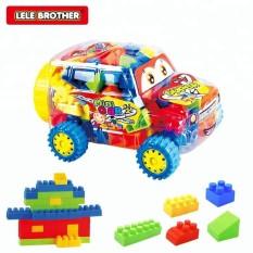Đồ chơi trẻ em lắp ráp dạng khối Xe Mini Lele Brother 8327-1