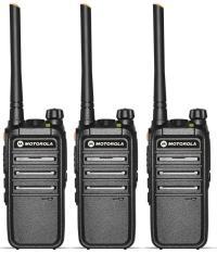 Bộ 3 Bộ đàm Motorola CP318-Cự ly liên lạc tối thiểu 1km trong nội thành (BN3)+Tặng kèm 03 tai nghe