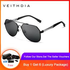 Kính râm quá khổ phong cách thời trang dành cho nam VEITHDIA Polarized Blue lens Eyewear Sun Glasses For Men Nam oculos 3598