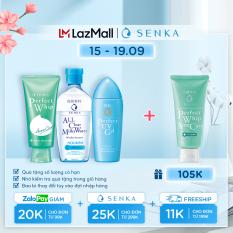 Bộ sản phẩm bảo vệ và giảm mụn Senka( chống nắng UV Gel 80ml+nước sữa tẩy trang Milky 230ml+sữa rửa mặt Acne 100g)
