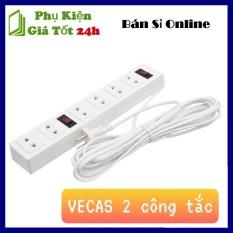 ⚡ Siêu Hot ⚡ Ổ Điện Dài VECAS 6 Lỗ 2 Công Tắc Cao Cấp – Ổ ĐIỆN VECAS 3M 2 CÔNG TẮC