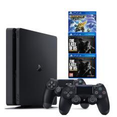 Combo Máy Chơi Game Ps4 Slim 1tb Model2218b Kèm 3 Game Uncharted 4 ,The Last Of Us ,Ratchet & Clank + 2 Tay Cầm – Chính Hãng Sony Việt Nam