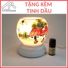 Đèn xông tinh dầu sứ cắm điện (Chọn mẫu) Tặng Tinh Dầu đèn ngủ đuổi diệt muỗi khử mùi thơm phòng tinh dau tinhdau duoi muoi duoimuoi den xong denxong