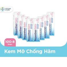 Combo 8 Kem chống hăm Bepanthen Balm dạng kem mỡ 100g/tuýp