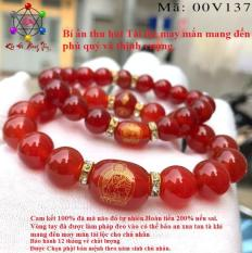 Vòng tay mã não đỏ 5A khắc phật bản mệnh bảo hộ chủ nhân, Vòng tay phong thủy mã não 100% đá thiên nhiên có năng lượng mang đến may mắn, tài lộc phú quý