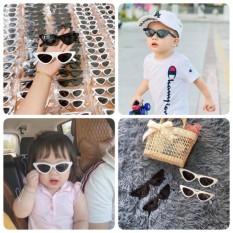 Kính mắt mèo cho bé – Kính đi nắng bé trai bé gái mùa hè cho bé 1-6 tuổi chống tia UV gọng dẻo phong cách Hàn Quốc KM07