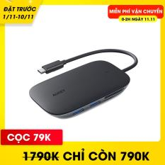 Hub Chia Cổng Type C AUKEY CB-C68 Mở Rộng 7 Cổng, 1 Type C PD 100W, 1 HDMI Hỗ Trợ Độ Phân Giải 4K, 3 Cổng USB 3.1 (10.2 Gbps) 1 Cổng SD & 1 Cổng Micro SD – Nhà Phân Phối Chính Thức