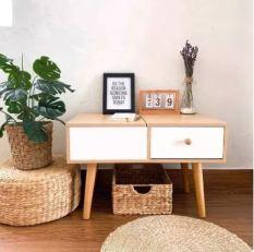 Bàn trang điểm mini ngồi bệt có gương là bàn học bàn làm việc hot nhất 2021 Chất liệu MDF – Chân gỗ cao su sơn PU