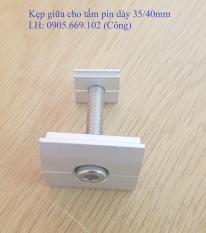 (10 bộ) Kẹp giữa tấm pin Năng lượng Mặt trời dày 40mm/ Mid clamp 40mm