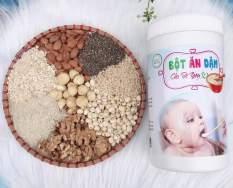 Bột ăn dặm cho bé được làm từ hạt ngũ cốc nguyên sơ đảm bao dinh dưỡng cho trẻ
