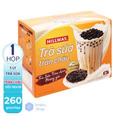 [ TRÀ SỮA TRÂN CHÂU TƯƠI NGON ] — FREESHIP – Hộp pha được 5 ly Trà sữa trân châu Hillway hộp 260g (Date: 9 tháng) – GIAO MÙI NGẪU NHIÊN