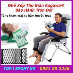 Ghế xếp thư giãn Hakawa – ghế xếp thư giãn hakawa – Thế hệ ghế thư giãn 5.0 – Khung thép sơn tĩnh điện 7 lớp chịu lực cao – Tặng thảm mát xa bấm huyệt yoga + nệm bông xịn – Bảo hành trọn đời