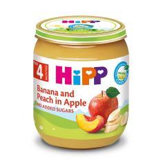 [FREESHIP] Dinh dưỡng đóng lọ Chuối, đào, táo HiPP Organic 125g