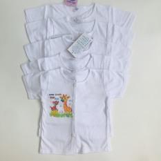 Áo sơ sinh tay ngắn cổ tròn trắng in hình Yến Trân cho bé – BEEKIDS PLAZA