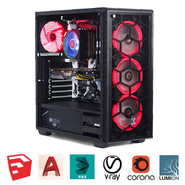 Máy tính Workstation AMD Ryzen 5 2600 / B450 / 16GB /RX570 4G DDR5 GIÁ RẺ
