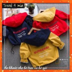 áo khoác gió bé trai , Áo khoác dù cho bé gái từ 5 đến 14 tuổi D16