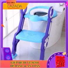 Thang đi vệ sinh cho bé [Màu tím – xanh dương] – Bé đi vệ sinh chua bao giờ dễ dàng đến vậy