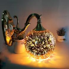 Đèn gắn tường – đèn tường – đèn vách quả cầu lửa 3D trang trí siêu lung linh – đã kèm bóng LED