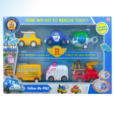 Đồ chơi xe mô hình tĩnh hình ô tô chạy trớn bằng nhựa cho bé – robocarpoli