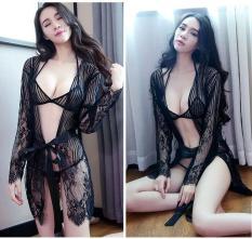 Áo Choàng Ngủ Ren kèm Set Bikini – Mã Sp: ACR004