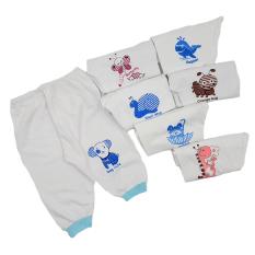 SET 10 quần dài sơ sinh màu trắng Thái Hà Thịnh 100% cotton mềm, mịn, mát