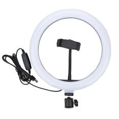 Đèn led livestream 26cm 33cm 45cm 3 chế độ đèn và nhiều loại chân đế giá đỡ