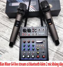 ( SALE CÒN DUY NHÂT 1 BỘ ) Bàn Trộn Âm Thanh Kiêm Lọc Âm Mixer Yamaha G4 Kèm 2 Mic- Mua Combo Mixer G4 Live Stream Được Hỗ Trợ Màn Hình LED Có Bluetooth Kiêm 2 Mic Không Dây Tiện Cho Oto Loa Kéo Và Các Loa Khác, Chuyên Nghiệp, ( FHIP SHIP )