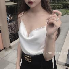 [Napubee] Áo hai dây phi lụa mango cổ đổ Ula – hàng thiết kế