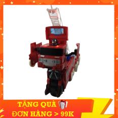 Đồ Chơi Xe Cứu Hỏa Biến Hình Robot KINGPOWER Phát Sáng Phát Nhạc Vui Nhộn, Còi Hú Khẩn Cấp