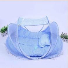[CAM KẾT Y HÌNH] Nệm mùng di động cỡ đại cho bé màn nôi chụp chống muỗi cho bé sản phẩm kèm nệm gối êm nhạc ru ngủ cho bé yêu