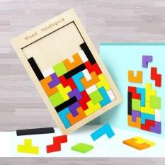 Đồ chơi xếp hình thông minh Tetris size đại – xếp gạch bằng gỗ cho bé