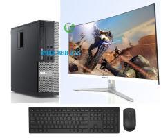 Bộ máy tính Văn phòng Dell Optiplex (Core i7 2600 – Core i5 – Ram 8Gb – SSD 120Gb) Màn hình Cong 24 inch – Tặng Bàn phím chuột – Chuyên dùng cho Công ty Doanh Nghiệp