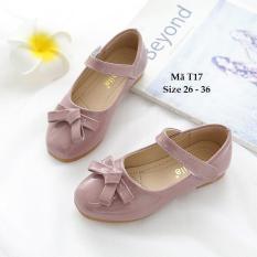Giày Tím Pastel Cao Cấp Cho Bé Gái Sành Điệu T17