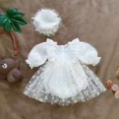 [Hình thật] Váy đầm bé gái hồng phấn tặng kèm nón xinh xắn – Chất liệu cao cấp, an toàn cho bé – BATORY Store