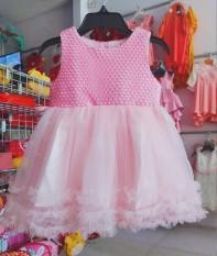 đầm công chúa hồng chất liệu mềm mại dễ thương cho bé gái