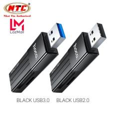 Đầu đọc thẻ nhớ 2.0 / 3.0 Hoco HB20 Mindful – hỗ trợ khe microSD/SD (Đen) – Nhat Tin Authorised Store