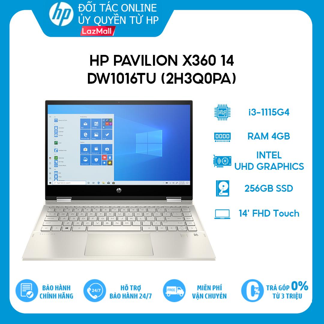 [Trả góp 0%] Laptop HP Pavilion x360 14-dw1016TU (2H3Q0PA) (i3-1115G4 | 4GB | 256GB | Intel UHD Graphics | 14 FHD Touch | Win 10 + Office)