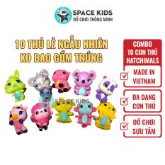 Đồ chơi trẻ em Combo 10 con thú Hatchimals các mùa nhiều màu cho bé hàng made in Việt Nam
