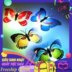 combo 2 Đèn led dán tường hình con bướm Đèn ngủ hình bướm