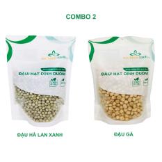Combo 2 – Đậu gà & Đậu hà lan xanh nguyên hạt (mỗi túi 500g)