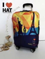 Vỏ bọc vali, áo bọc vali, túi bọc vali PARIS size S-M-L-XL