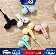 Tai nghe nhét tai GUTEK U19 HiFi có dây dài 1.2m màu macaron với âm thanh siêu trầm đa năng cho Android & iOS