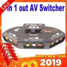 Switch AV cho tivi 3 cổng vào – 1 cổng ra kết nối nhiều thiết bị (Đen)