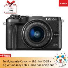 Máy ảnh Canon EOS M6 Lens EF-M15-45 (Mark II) Hàng chính hãng
