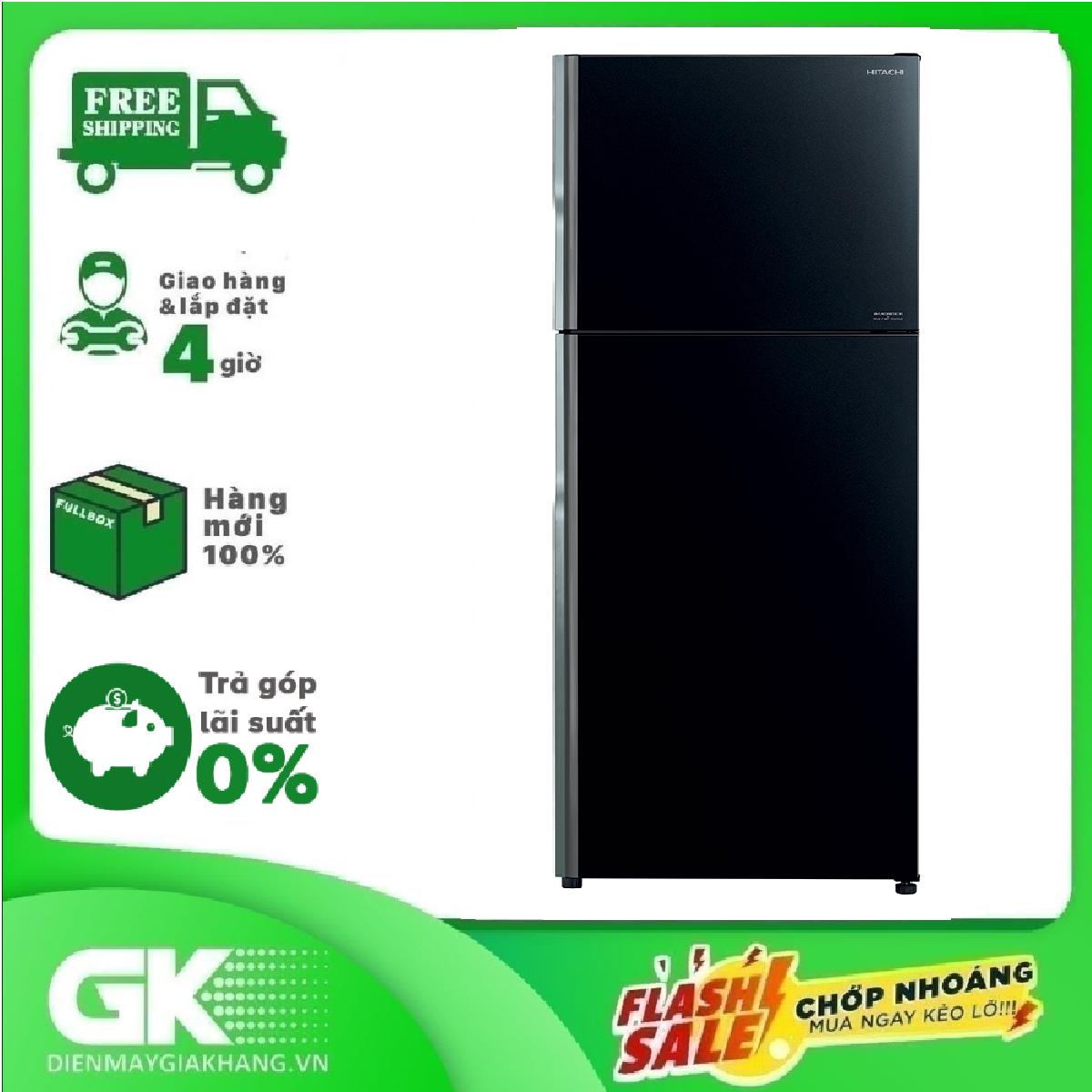 [Trả góp 0%]Tủ lạnh Hitachi Inverter 443 lít R-FVX510PGV9(GBK) 2020