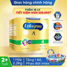 [FREESHIP TOÀN QUỐC]Sữa bột Enfagrow 4 cho trẻ trên 2 tuổi 2.2g (4 túi thiếc 550g) + Tặng 1 bộ phao bơi VBC-59469